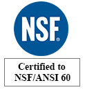 Certified to NSF/ANSI to ISO 9001